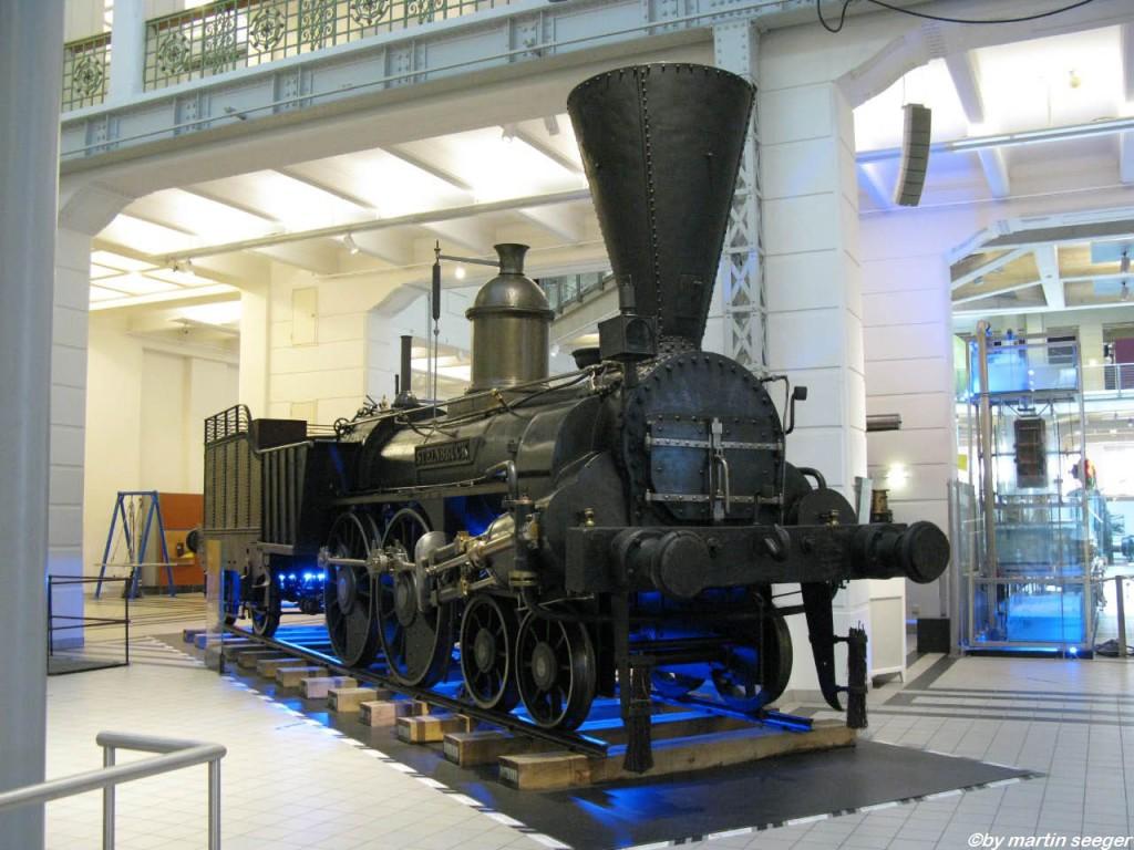 Eine Dampflok im technischen Museum Wien