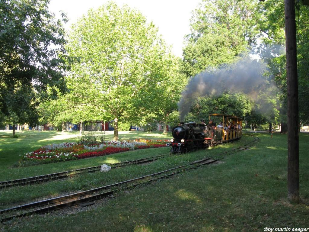 Liliput-Eisenbahn im Prater Park von Wien
